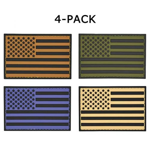 Great 1 Products Airsoft Patch 1 Great 1 Products American Flag Patch Set, 2x3 inch, PVC with Velcro Backing, Hook and Loop, Military and Tactical Accessory for Clothing-Jackets-Hats-Backpacks (Earth Tone Flags)