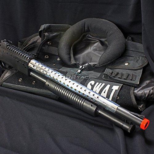 BBTac  3 bbtac airsoft shotgun pump action (starter shotgun series) - pistol grip airsoft shotgun - high bb capacity - 300 fps+ w/ 6mm 0.12g bbs with bbtac warranty & tech support(Airsoft Gun)