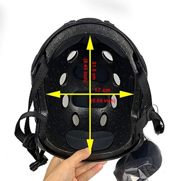 ATAIRSOFT Airsoft Helmet 6 ATAIRSOFT PJ Type Tactical Fast Helmet w/Protective Goggles Version Multicam
