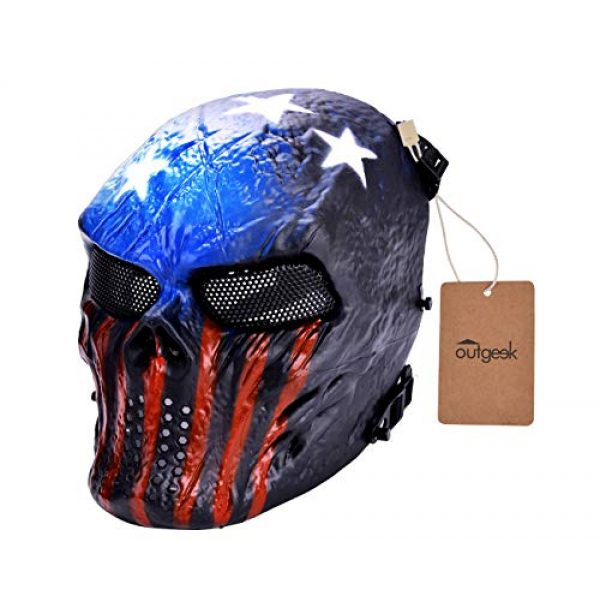 Outgeek Airsoft Mask 6 Outgeek Tactical Airsoft Mask Full Face Costume Mask(Urban)