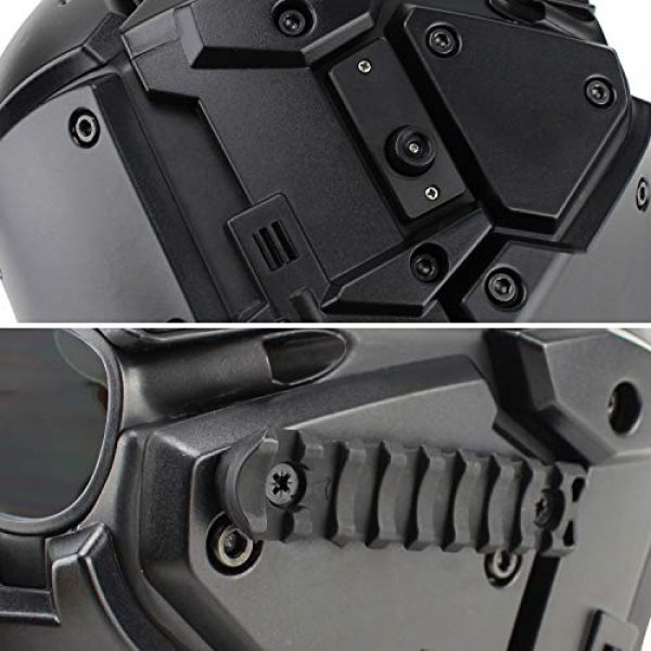 LEJUNJIE Airsoft Helmet 5 LEJUNJIE Tactical Airsoft Helmet Full Face Protection Mask Goggles Hunting Paintball Shooting Military Motorcycle Cosplay Movie Prop