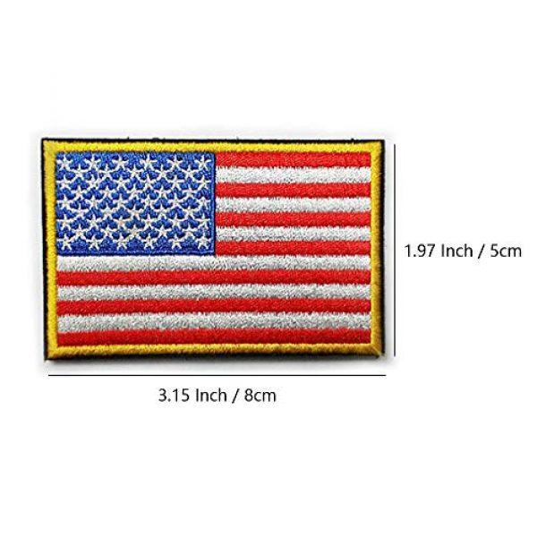 KISEER Airsoft Patch 3 KISEER 12 Pieces US Flag Patch American Flag Punisher Velcro Patches Badges, Don't Tread On Me Fully Embroidered Tactical Military Morale Patches Set