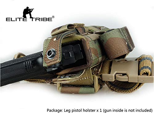 Elite Tribe  3 Elite Tribe Airsoft Hunting Pistol Holster Tactical Tornado Universal Tactical Thigh Holster Multicam