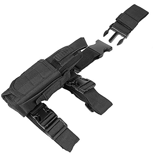 LIVEBOX  6 LIVEBOX Military Tactical Drop Leg Thigh Gun Holster Bag Adjustable Right Leg Handgun Holster Pouch for Airsoft Paintball Hunting Gun Training