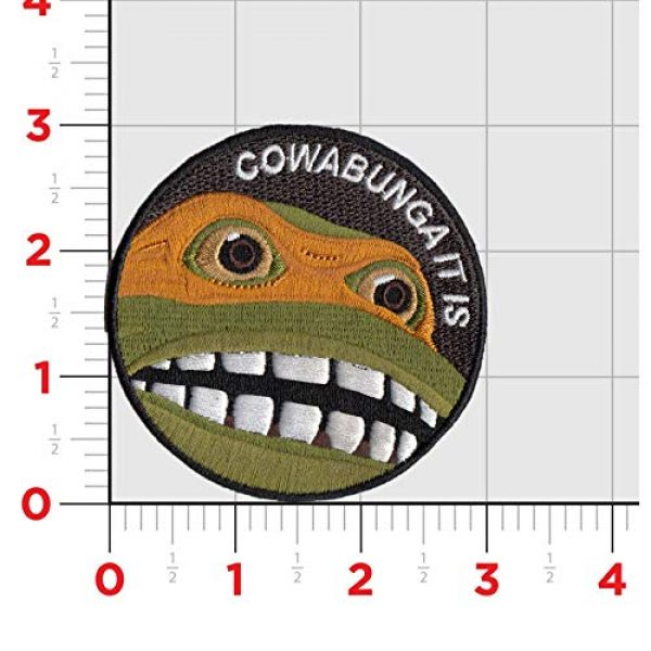 Bitway Tactical Airsoft Patch 2 Bitway Tactical Cowabunga It is Embroidered Hook-Backed Morale Patch