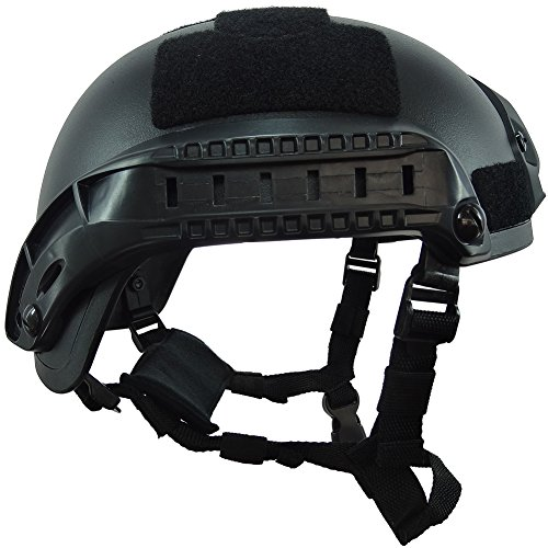 OneTigris Airsoft Helmet 3 OneTigris Airsoft Paintball MICH 2001 Action Version Tactical Helmet with NVG Mount and Side Rails