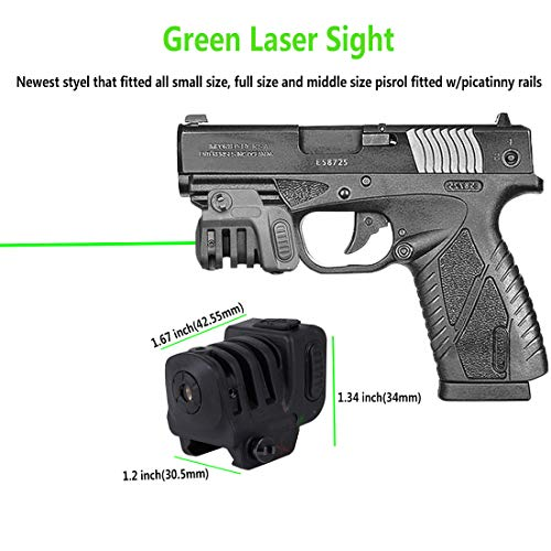 JDAMALEYWO Airsoft Gun Sight 2 JDAMALEYWO Tactical Laser Sight for Pistol Rifle Handguns