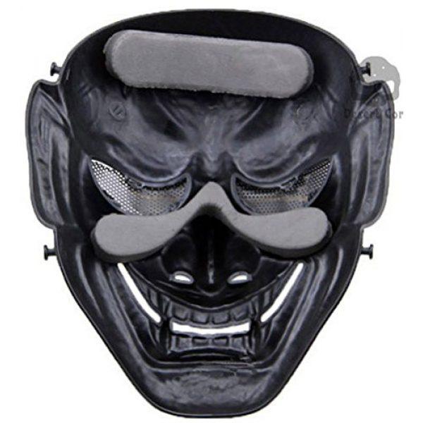 phoenix outdoor Airsoft Mask 4 phoenix outdoor Japanese Samurai Metal Mesh Full Face Protective Airsoft Mask -Permance Goggle-Black-Halloween Mask