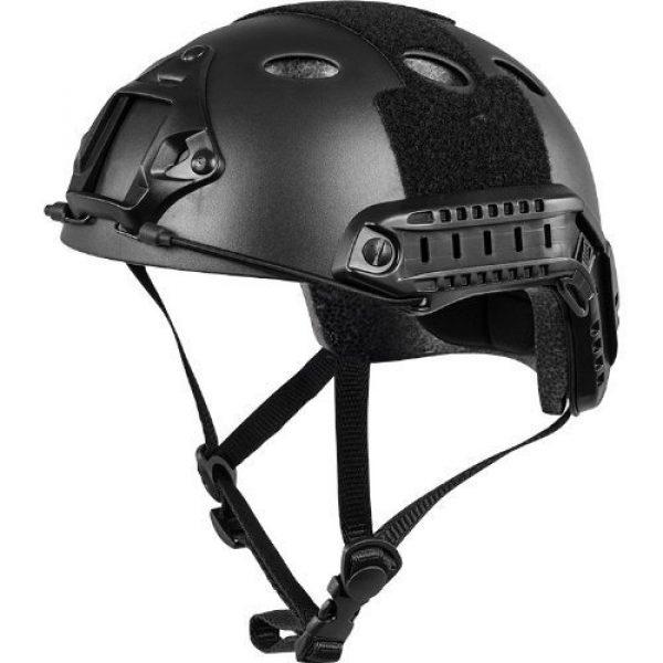 iMeshbean Airsoft Helmet 2 iMeshbean PJ Type Tactical Multifunctional Fast Helmet with Visor Goggles Version Black (Black)