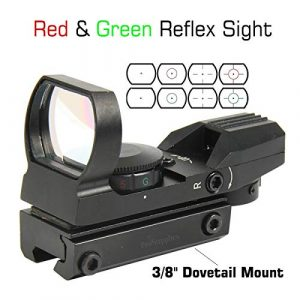 TACFUN Airsoft Gun Sight 1 TACFUN Red and Green Reflex Sight with 4 Reticles