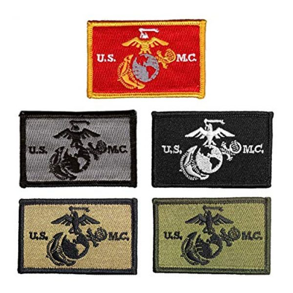Antrix Airsoft Patch 1 Antrix 5 Pieces Tactical USMC Morale Patch Hook and Loop Fastener US Marine Corps US Army Military Applique Emblem Patch Set for Caps,Bags,Backpacks,Clothes,Vest,Military Uniforms,Tactical Gear Etc.