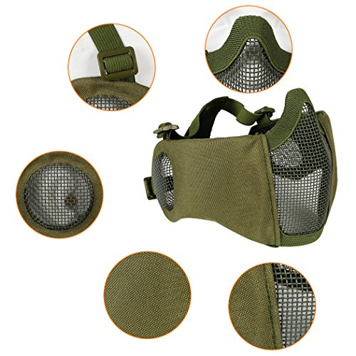 Aoutacc Airsoft Mask 3 Aoutacc Airsoft Mesh Mask