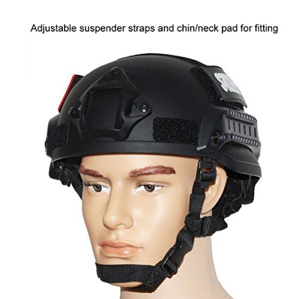 OneTigris Airsoft Helmet 7 OneTigris MICH 2002 Action Version Tactical Helmet ABS Helmet for Airsoft Paintball