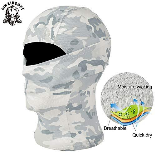SINAIRSOFT Airsoft Mask 3 SINAIRSOFT Tactical Airsoft Full Face Mask Balaclava Hood Headwear Motorcycle Hunting CS
