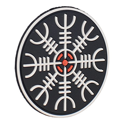 M-Tac Airsoft Patch 4 M-Tac Helm of Awe Viking Morale Patches PVC Norse Rune Vegvisir Morale Patch