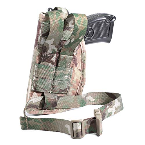 LIVIQILY  2 LIVIQILY Camouflage Tactical Molle Pistol Thigh Gun Holster Leg Holster Adjustable Pistol Carrier Airsoft Hunting Case Vertical Accessories