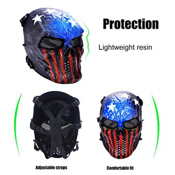 Outgeek Airsoft Mask 4 Outgeek Tactical Airsoft Mask Full Face Costume Mask(Urban)