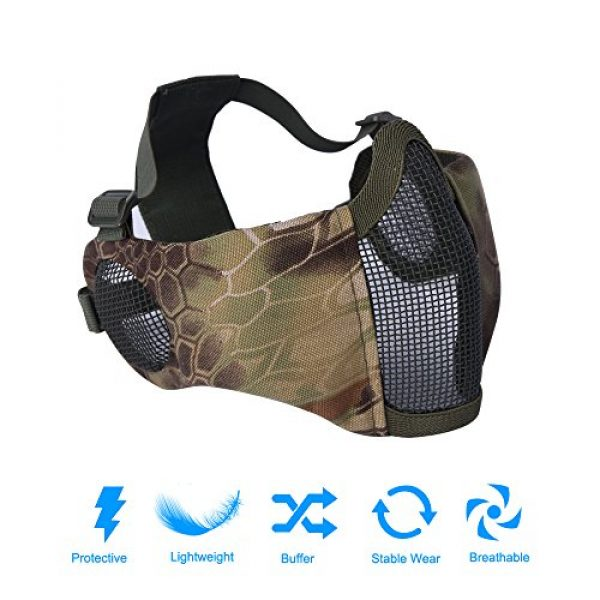 Mesh Half Face Skull Set with Goggles