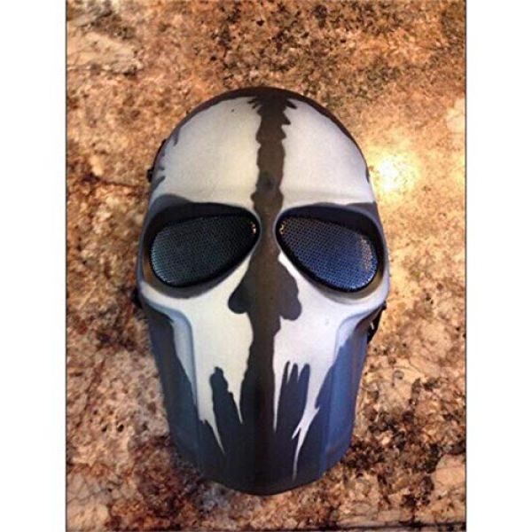 Outgeek Airsoft Mask 2 Outgeek Airsoft Mask Full Face Protective Mesh Mask Skull Mask for Costume