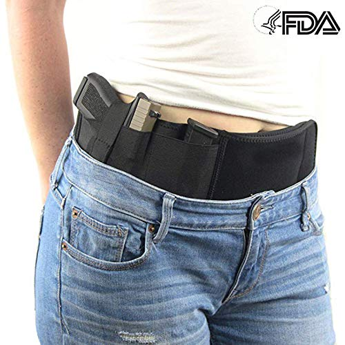Mudoro  2 Mudoro Belly Band Concealed Hand Gun Holster Suitable for Men and Women - Right or Left Hand