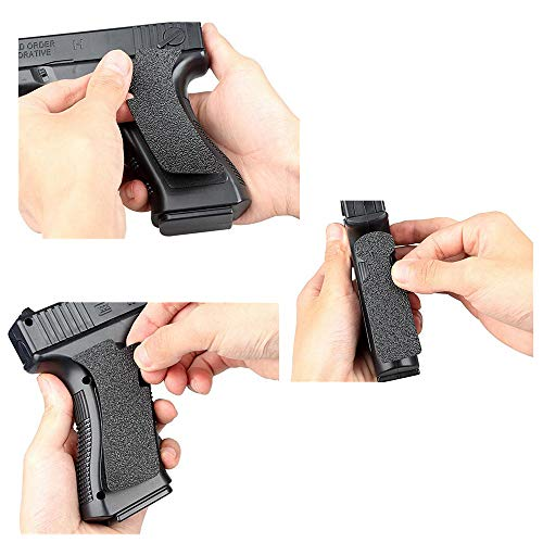FIRECLUB  4 FIRECLUB 2 Set Non-Slip Rubber Texture Grip Wrap Tape Glove for Glock 17 19 20 21 22 25 26 27 32 33 38 43 Holster 9mm Pistol Accessories