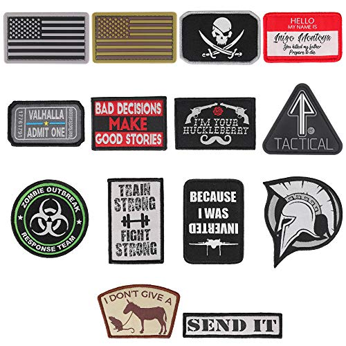 14er Tactical Airsoft Patch 1 14er Tactical Morale Patches (14-Pack) | Hook & Loop Backed
