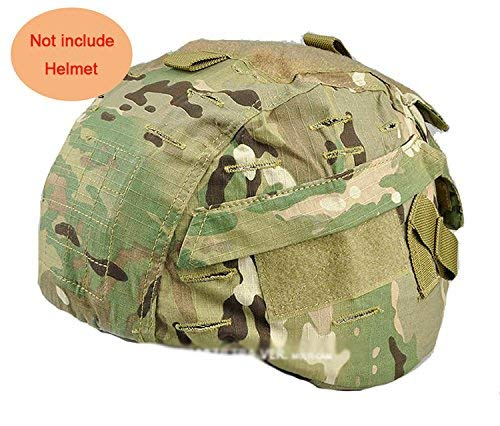 H World Shopping Airsoft Helmet 1 H World Shopping Tactical Airsoft Military MICH 2000 Ver2 Helmet Cover with Back Pouch