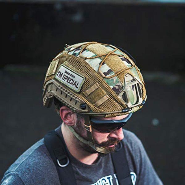 OneTigris Airsoft Helmet 4 OneTigris Multicam Helmet Cover - No Helmet (ZKB06 for Ballistic Fast Helmet in Size L & Fast PJ Helmet in Size L/XL - Multicam Black)