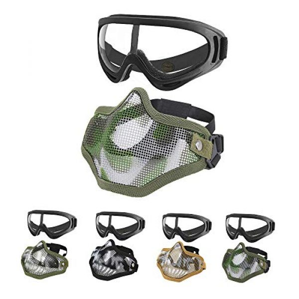 MGFLASHFORCE Airsoft Mask 1 MGFLASHFORCE Airsoft Mask and Goggles Set
