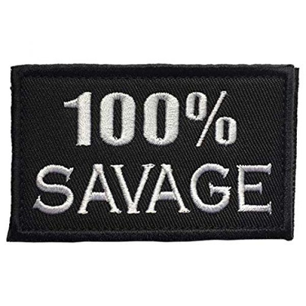 Homiego Airsoft Morale Patch 7 Homiego 100% Savage & Beast Mode On Military Tactical Morale Hook & Loop Badge Patch