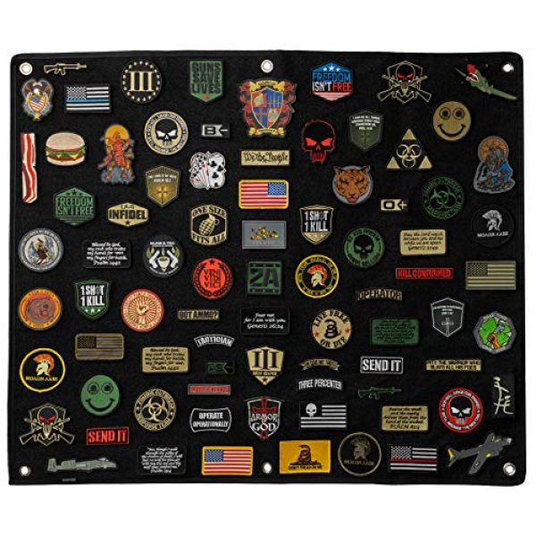 BASTION Airsoft Patch 6 BASTION Morale Patches (Whiskey Tango Foxtrot, Tan) | 3D Embroidered Patches with Hook & Loop Fastener Backing | Well-Made Clean Stitching, Military Patches for Tactical Bag, Hats & Vest