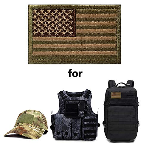 OPQ Airsoft Patch 4 Aamerican Flag Military Patches Tactical Morale Patches Thin Blue Line Punisher Decorative Patche Fully Embroidered Morale Tags Patch for Backpacks Clothes CapsBags Military Uniforms (12pcs Patch)