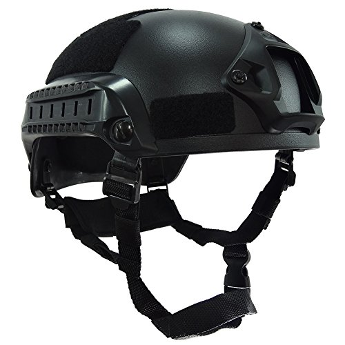 OneTigris Airsoft Helmet 1 OneTigris Airsoft Paintball MICH 2001 Action Version Tactical Helmet with NVG Mount and Side Rails