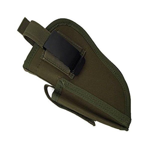 FIRECLUB  3 FIRECLUB Tactical Waistband Nylon Black Holster Waist Belt Handgun Right Hand Left Hand Interchangeable Gun Holster for Medium Compact Subcompact Hand Guns with Magazine Slot