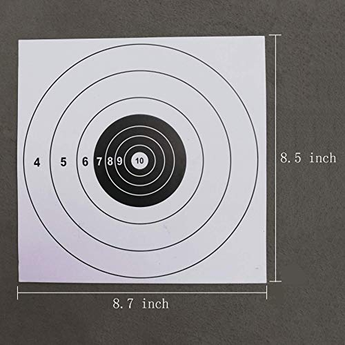 YouOK Airsoft Target 3 YouOK Air Shot Paper Targets - 8.5 by 8.7 - Fits Gamo Cone Traps and Metal Box BB Catcher Target Holder Pellet Trap for Air Rifle/Airsoft Pistol (White)