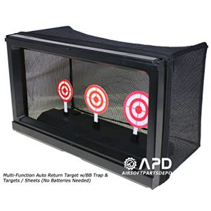 Well Airsoft Target 1 Well Multi-Function Auto Return Auto-Reset Bullseye Shooting Target W/BB Trap & Targets/Sheets (No Batteries Needed) Airsoft Shooting target/target tent trap/rotating shooting target