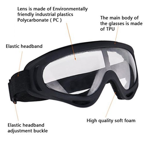 Aoutacc Airsoft Mask 6 Aoutacc Airsoft Half Face Mesh Mask and Goggles Set for CS/Hunting/Paintball/Shooting