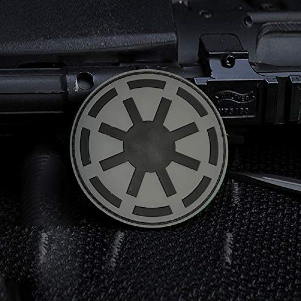 Morton Home Airsoft Patch 3 Morton Home Republic Galactic Empire Logo Army GITD Tactical Morale Airsoft 3D PVC Rubber Patch(Black)