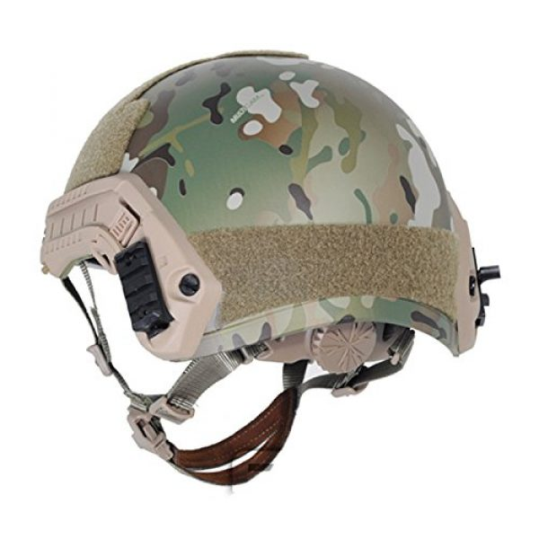 ATAIRSOFT Airsoft Helmet 4 ATAIRSOFT MH Type Tactical Paintball Adjustable Fast Helmet w/Side Rails and NVG Mount Multicam MCˆM/L
