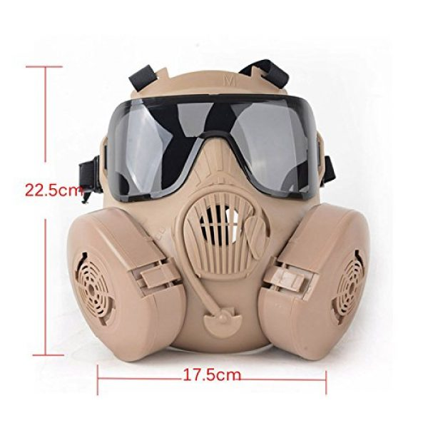 Outgeek Airsoft Mask 2 Outgeek M50 Airsoft Mask Full Face Skull CS Mask with Fan