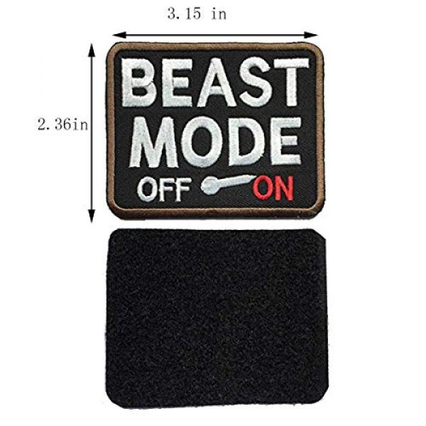 Homiego Airsoft Morale Patch 3 Homiego 100% Savage & Beast Mode On Military Tactical Morale Hook & Loop Badge Patch