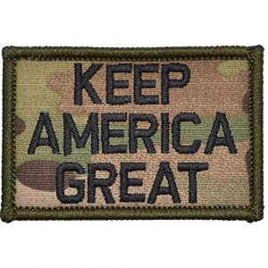 Tactical Gear Junkie Airsoft Patch 1 Keep America Great - 2x3 Morale Patch - Multicam