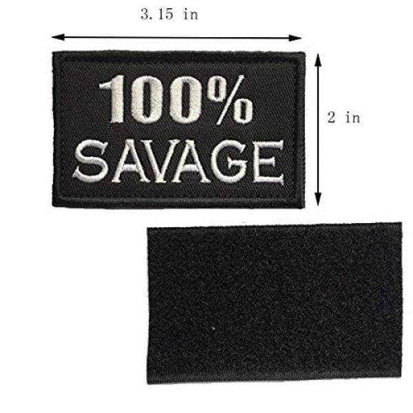 Homiego Airsoft Morale Patch 2 Homiego 100% Savage & Beast Mode On Military Tactical Morale Hook & Loop Badge Patch