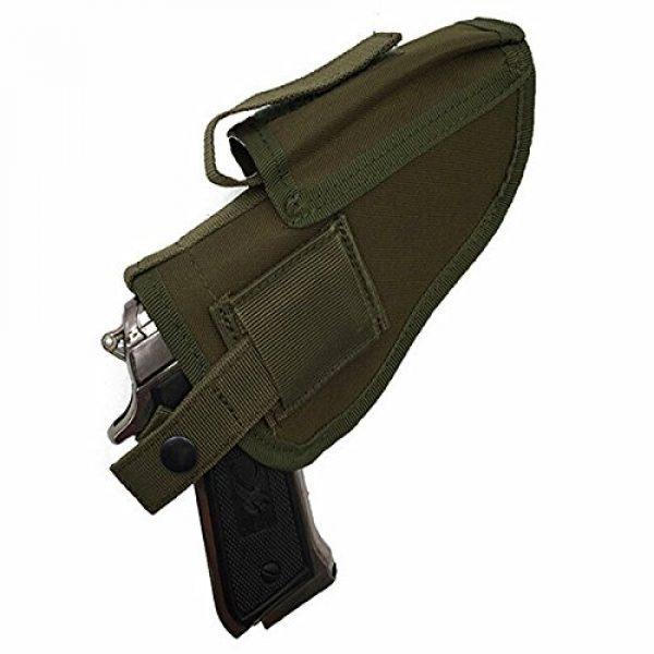 FIRECLUB  2 FIRECLUB Tactical Waistband Nylon Black Holster Waist Belt Handgun Right Hand Left Hand Interchangeable Gun Holster for Medium Compact Subcompact Hand Guns with Magazine Slot