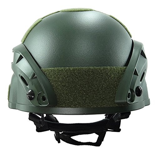 ATAIRSOFT Airsoft Helmet 5 ATAIRSOFT Tactical Airsoft Paintball MICH 2000 Helmet with Side Rail & NVG Mount