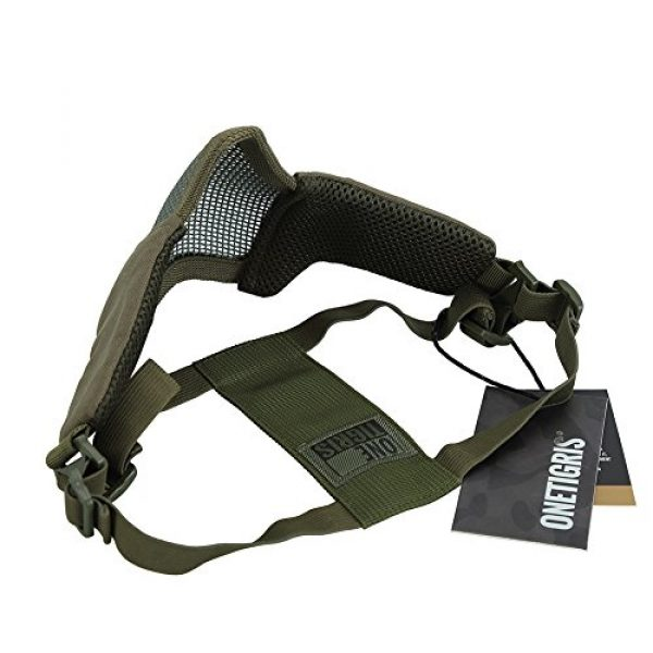"""OneTigris Airsoft Mask 3 OneTigris 4.5"""" Tactical Foldable Half Face Mask Protective Mesh Mask Fit Women & Teenagers"""