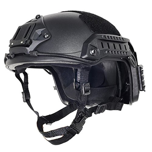 Optional life Airsoft Helmet 1 Optional life Black Free Size Tactical ABS Airsoft CS Paintball Security Helmet