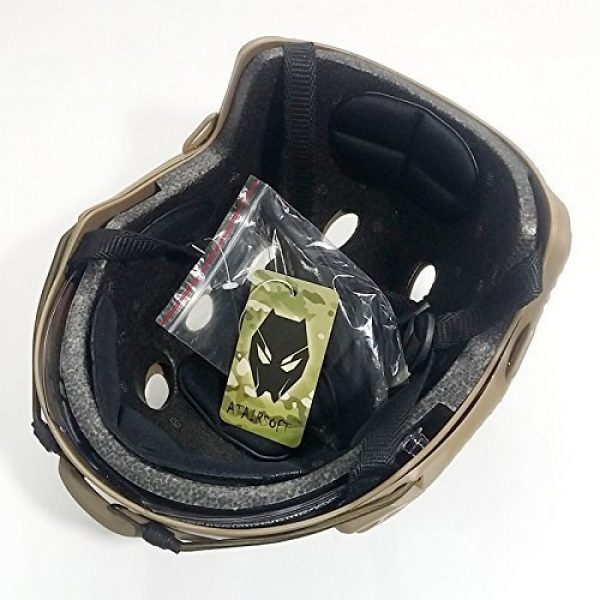 ATAIRSOFT Airsoft Helmet 7 ATAIRSOFT PJ Type Tactical Multifunctional Fast Helmet with Visor Goggles Version DE