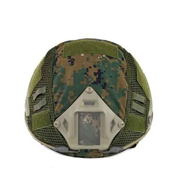 ATAIRSOFT Airsoft Helmet 3 ATAIRSOFT Airsoft Tactical Military Combat Helmet Cover for PJ/BJ/MH Type Fast Helmet Back Pouch (DW)