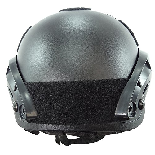 OneTigris Airsoft Helmet 5 OneTigris Airsoft Paintball MICH 2001 Action Version Tactical Helmet with NVG Mount and Side Rails